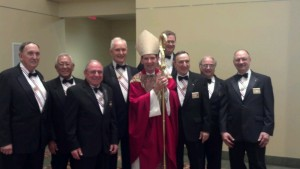 Assembly Knights with Bishop Burbidge