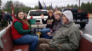 Leanna Long (left) enjoying the parade